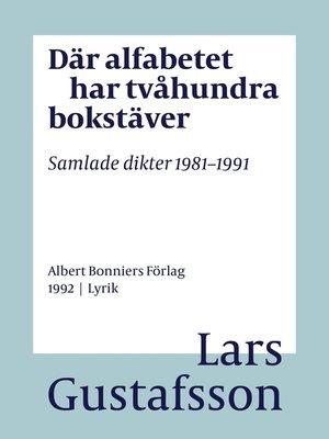 cover image of Där alfabetet har tvåhundra bokstäver