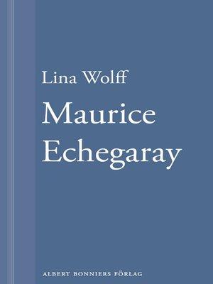 cover image of Många människor dör som du. Maurice Echegaray