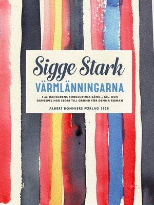 cover image of Värmlänningarna
