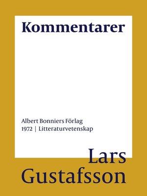 cover image of Kommentarer