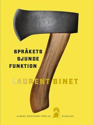 cover image of Språkets sjunde funktion