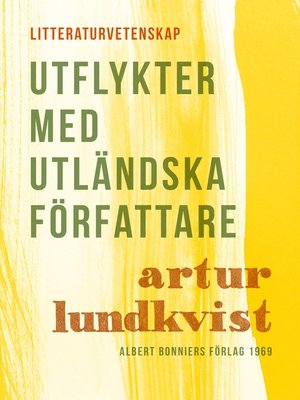 cover image of Utflykter med utländska författare