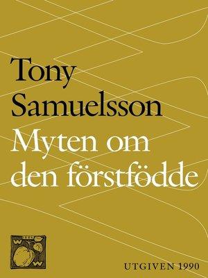 cover image of Myten om den förstfödde