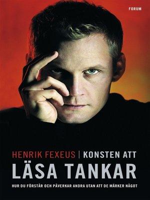 cover image of Konsten att läsa tankar