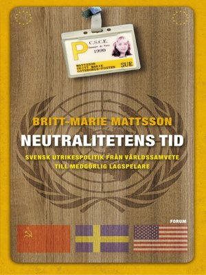 cover image of Neutralitetens tid