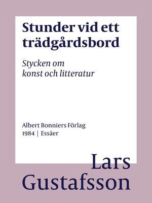 cover image of Stunder vid ett trädgårdsbord