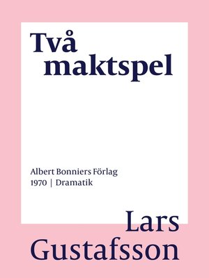 cover image of Två maktspel