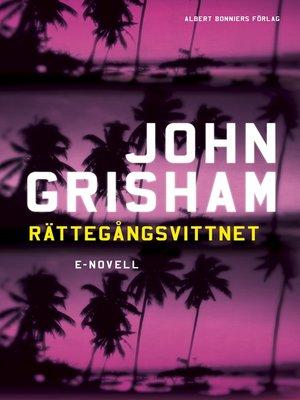cover image of Rättegångsvittnet