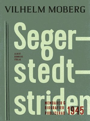 cover image of Segerstedtstriden