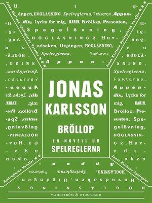 cover image of Bröllop