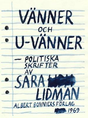 cover image of Vänner och u-vänner