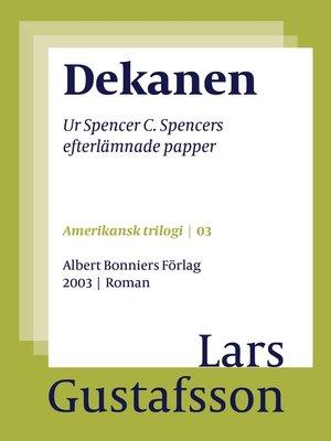 cover image of Dekanen