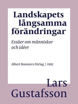 cover image of Landskapets långsamma förändringar