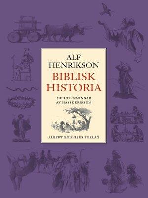 cover image of Biblisk historia