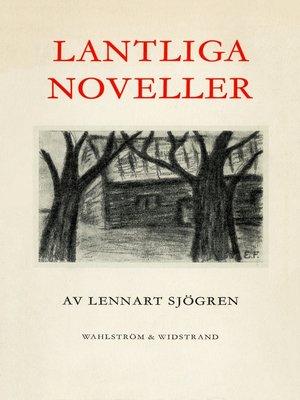 cover image of Lantliga noveller