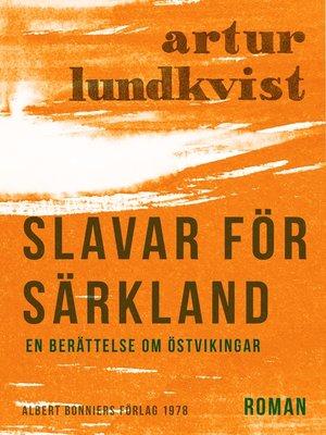 cover image of Slavar för Särkland