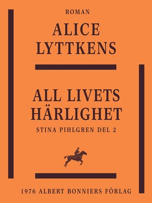 cover image of All livets härlighet