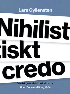 cover image of Nihilistiskt credo