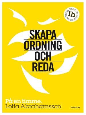 cover image of Skapa ordning och reda