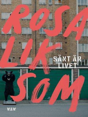 cover image of Sånt är livet