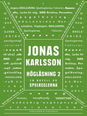 cover image of Högläsning 2