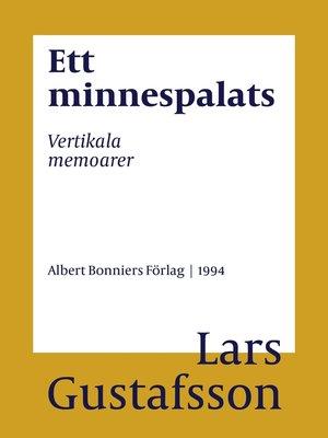 cover image of Ett minnespalats
