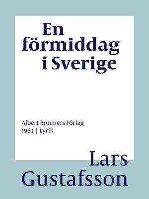 cover image of En förmiddag i Sverige