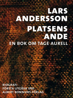 cover image of Platsens ande