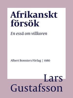 cover image of Afrikanskt försök
