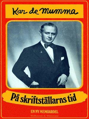 cover image of På skriftställarns tid