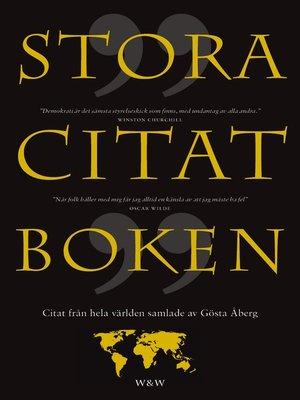 cover image of Stora citatboken