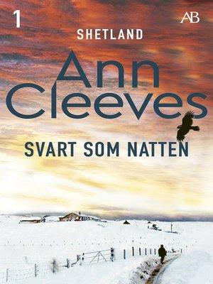 cover image of Svart som natten