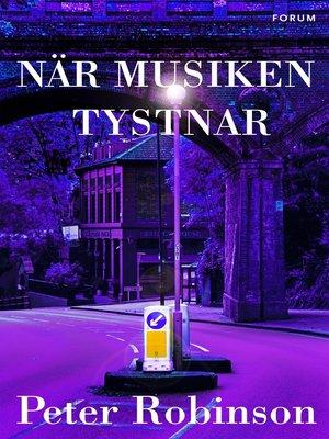 cover image of När musiken tystnar