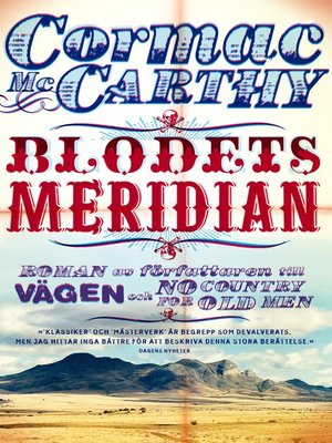 cover image of Blodets meridian