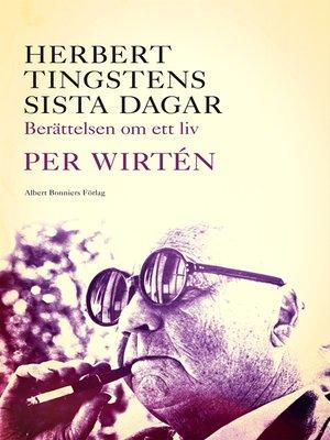 cover image of Herbert Tingstens sista dagar