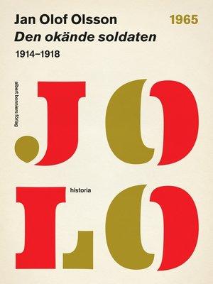 cover image of Den okände soldaten