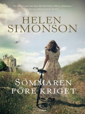 cover image of Sommaren före kriget