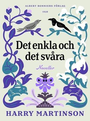 cover image of Det enkla och det svåra