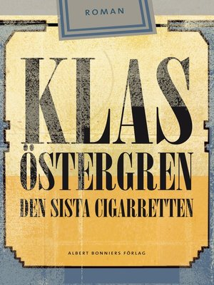 cover image of Den sista cigarretten
