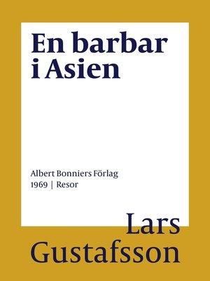 cover image of En barbar i Asien