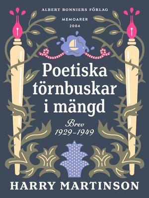 cover image of Poetiska törnbuskar i mängd