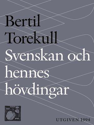 cover image of Svenskan och hennes hövdingar
