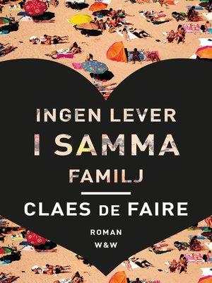 cover image of Ingen lever i samma familj