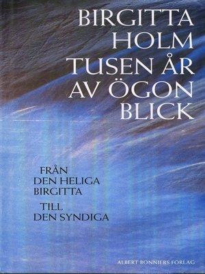 cover image of Tusen år av ögonblick