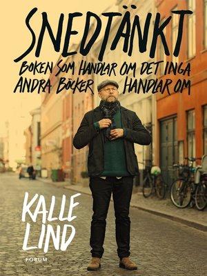 cover image of Snedtänkt