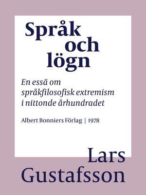 cover image of Språk och lögn