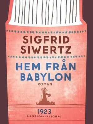 cover image of Hem från Babylon