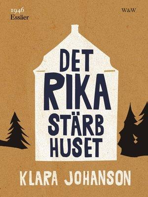 cover image of Det rika stärbhuset