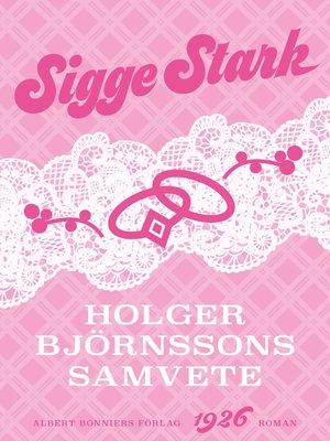 cover image of Holger Björnssons samvete