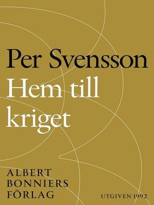 cover image of Hem till kriget